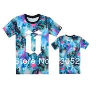T Shirt / Men / UNKUT Letter Graphics Print / Leopard Camo Flower Galaxy Stars/ Cool Casual Summer Short O-Neck Clothing