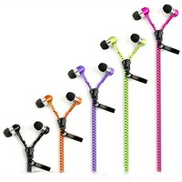 Free New Style Stereo 3.5mm Jack Earbuds Earphones Metal with Mic and Volume Fresh Earbuds Premium Tangle-Free Zipper Earphones