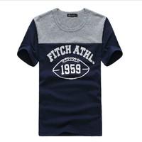 2014 new 100% brand contton men t-shirts t shirt printed fashion short sleeve t-shirt Free shipping hot sale  D460