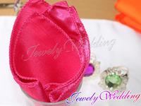 "Free Shipping 100 Pieces Fuchsia Satin Table Dinner Napkin 12"" Square Diner Handkerchief  Wedding Party Decor"