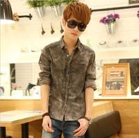 Free shipping 2014 New Arrival Men's Long sleeve Shirts,men's slim jean shirt  CS0028