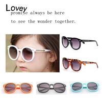 Lovey fashion metal rivet arrow kid's sunglasses UV 400 anti radiation children eyewear retro round frame candy color leopard