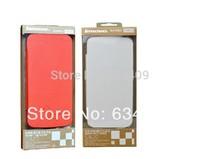 100% Original Lenovo S820 Leather Case Black In Stock Lenovo S820 Case Red,White,Blue,OrangeGift Screen Protector