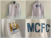 2013-2014 Man City Authentic Track Jacket-White