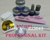 free shipping Nail Art UV Gel nail saloon ibd Builder Gel Clear gel nail art set nails & tools k-12