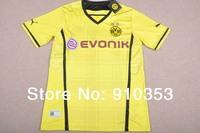 NEW SEASON 2014 Dortmund Home yellow Soccer Jersey,Embroidery Logo Thailand Quality Dortmund Soccer Shirt+Free Shipping