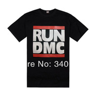 2014 Mens RUN DMC T-Shirts fashion top quality short sleeve t shirt Men's t-shirt 100% cotton hiphop Free Shipping