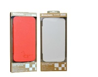 100% Original Lenovo S820 Leather Case Black In Stock Lenovo S820 Case Red,White,Blue,OrangeGift Screen Protector