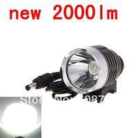 new T6 Bicycle Light HeadLight 2000 Lumens 3 Mode Waterproof Bike Front Light LED HeadLamp (no Battery Charger)
