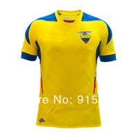 3A + + + Top Thai Quality Ecuador 2014 World Cup home yellow soccer jerseys free ship 2014 Ecuador football shirt soccer uniform