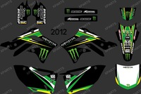 New Style POWER BLACK 0247 TEAM GRAPHICS & BACKGROUNDS DECALS STICKERS Kits for KAWASAI KX450F KXF450 2012