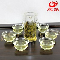 Glass tea set herbal tea set interaural buckle cup 7 piece set