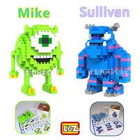 Monster University Sullivan Mike Set of Monsters LOZ Diamond Nano Mini Building Blocks Bricks Gift