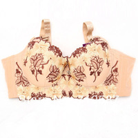 New Womens Embroidered Underwired Side Support Plunge Push Up Bra FREE SHIPPING #5433
