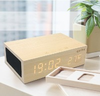 Free shipping The whole network first wool bluetooth speakert answertelephones bedside alarm clock wireless bluetooth audio