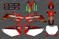 New Style red dragon 0369 TEAM GRAPHICS & BACKGROUNDS DECALS STICKERS kits for HONDA CRF250 CRF250R 2006 2007