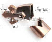 DIY 50set Copper Plated Cross Jewelry Findings Magnetic Clasps For leather Bracelet