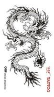 "Waterproof High Quality Temporary Tattoo Sticker ""Dragon"" -6.5*11.5 cm"