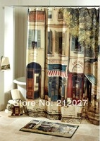 Free Shipping 180cmx180cm Polyester Hotel California shower curtain Waterproof Mouldproof bathroom curtain