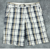 Hastransformed f&f Men 100% hoarily plaid cotton capris summer plus size