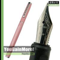 Jinhao 699 Pink Barrel Medium 18KGP Nib Fountain Pen Ladder Clip