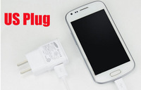 Universal 5V US Plug Travel Wall Charger + MICRO USB Cable For Samsung Galaxy S4 I9500 S3 I9300 Note2 N7100  White