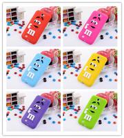 2014 New Arrivals cute Rainbow bean MM bean Case Cover For Samsung Galaxy note 2 N7100 Free Shipping 1pcs retail