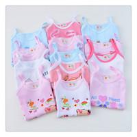 Free Shipping Children's Cotton Halter Top Cartoon Leisure Cheap Polychromatic Vest  Boys & Girls CuteTank Top Retail wholesale