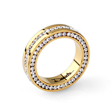 (Min order $15)Free Shipping Bulgary Name Rhinestone Stainless Steel Women And Men Rings Fashion Jewelry(Milan MJ0215)