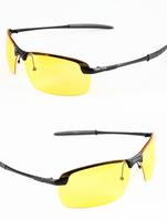 2014New 2013 Mens women Polarized Driving Sunglasses Hot Selling Brand Yellow Lense Night Vsion Driving Glasses Goggles Reduce G