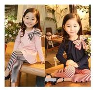 2014 New autumn children clothing suits ,girls clothes sets,child cotton sportswear set, girl casual suit, kids fashion wear