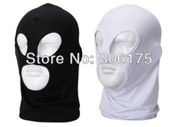 Free Shipping Wholesale 3 hole stretch lycra Balaclava hoods outdoor Motorcycle Cycling riding Neck protecting Dust Face Mask