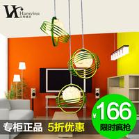 Modern brief fashion rustic wrought iron pendant light classic restaurant lamp bedroom lamp