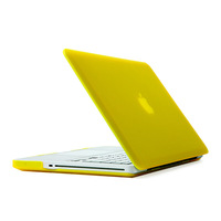 "Yellow Rubberized Back Case Cover Housing For Macbook Pro 13.3"" inches A1278 Free Shipping"