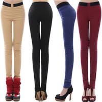 Women's spring slim elastic legging the trend of the brief pants