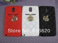 Crystal Crown Pendant Silicon Back Skin Case for Samsung Galaxy Note III 3 N9000