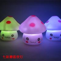 Mushroom lilliputian nightlight colorful led light emitting at home commodity novelty toy