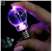 Led lighting keychain light bulb seven color allochroism bulb keychain toy 20