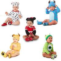 Free Shipping Retail fashion 1pcs/lot Baby boy Cartoon Romper Short Sleeve Baby Romper Girls Boy Romper