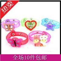 Child flash bracelet watch led wrist length belt soft hand ring night market sale light-up toy goods