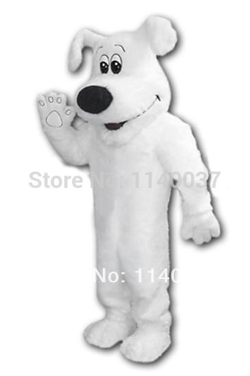 NO 1 MASCOT Custom Big White Dog Adult Mascot Costume for Sale Animal Mascot Costume Plush