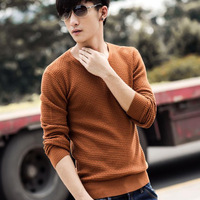 2013 autumn male sweater outerwear male sweater slim V-neck thin male wool