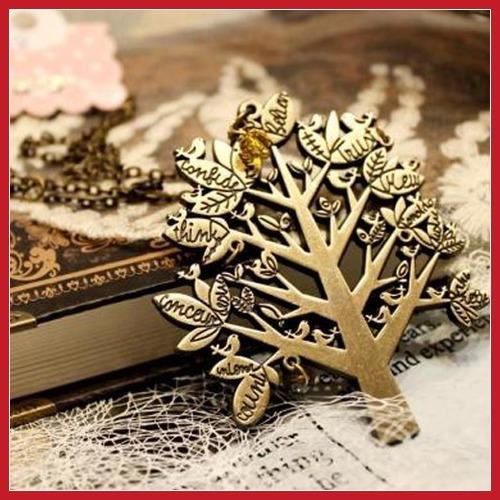 BangPrice Europa Vintage Palace pássaro da árvore de Natal Cartas cadeia pingente camisola colar Worldwide frete grátis(China (Mainland))