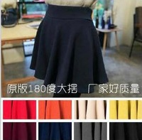 NEW SOLID COLOR SKATER MINI SKIRT FREE SHIPPING 8 COLORS K019