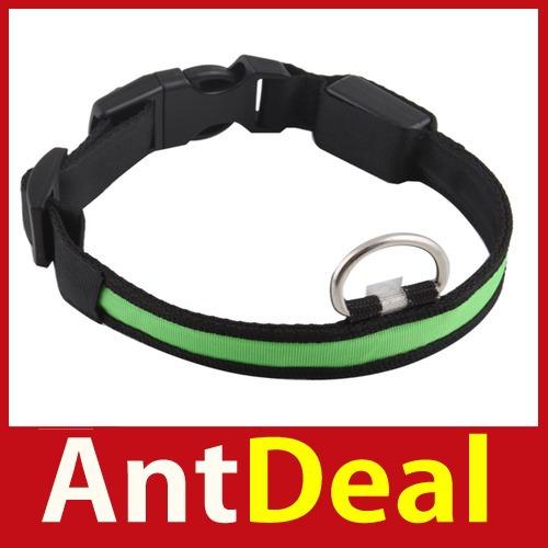 upgrade AntDeal Nylon LED Dog Night Safety Pet Collar Flashing Light Up Pendant Collar Rope Worldwide free shipping classic(China (Mainland))