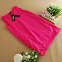 Jumpsuit short skirt elegant dress rose sleeveless tank dress one-piece dress