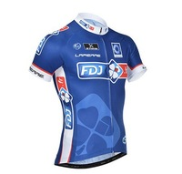 2014 New Arrival  Men Bike Racing Jersey Cycling FDJ FR Pro Team Quick Dry Clothes BicyCle Clothing Short Sleeve Spring Summer