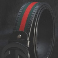 Free Shipping fashion G Buckle Belt for women/men,red green canvas +genuine leather belt 3.8 width hot sale