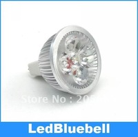 50pcs/lot  MR16 4W12V LED light lamp Spot Light Bulb Lamp
