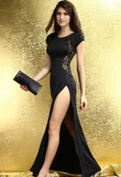 Clubwear dress noble sexy slim black full dress